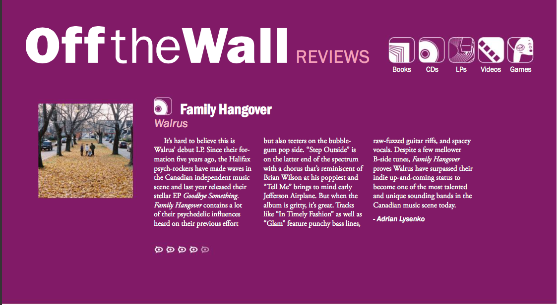 "WALRUS // The Walleye reviews ""Family Hangover"""